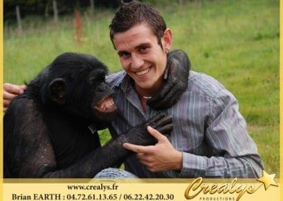 Complicité Chimpanzé humain
